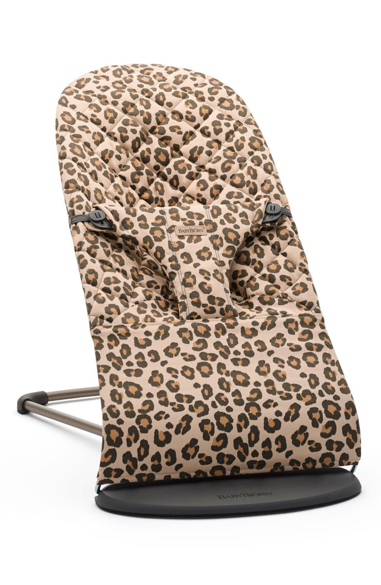 BABYBJÖRN Bouncer Bliss Convertible Quilted Baby Bouncer, Main, color, BEIGE LEOPARD