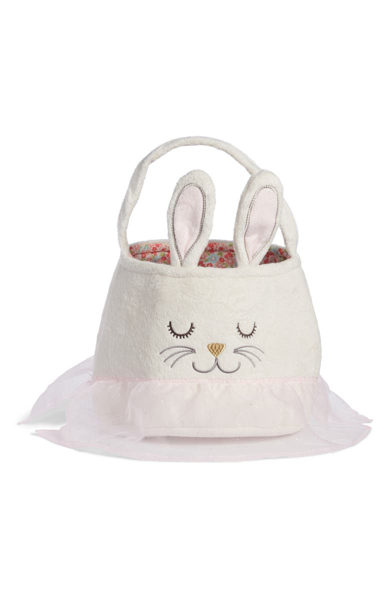 LEVTEX Bunny Easter Basket, Main, color, White