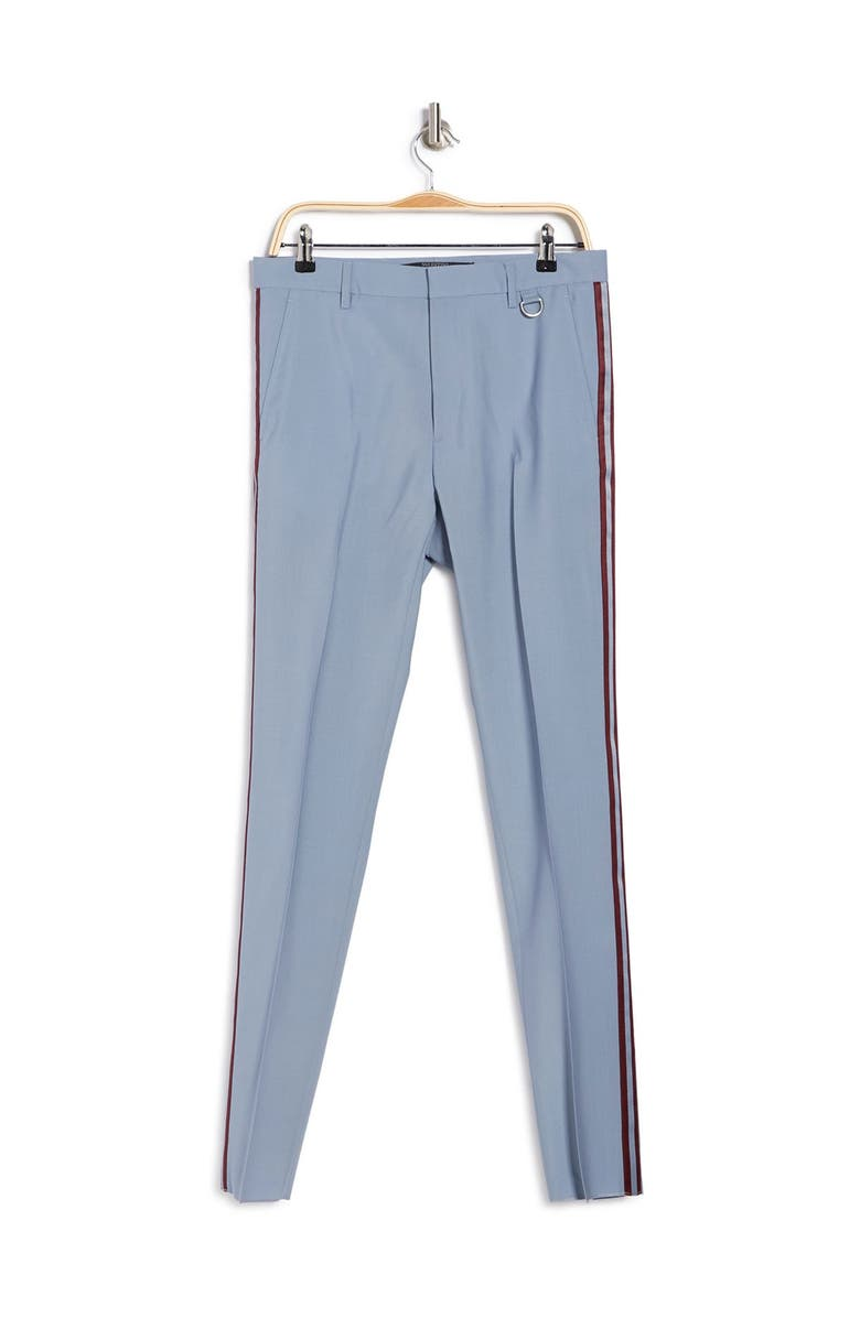 VALENTINO Side Stripe Pants, Main, color, DUSTY BLUE