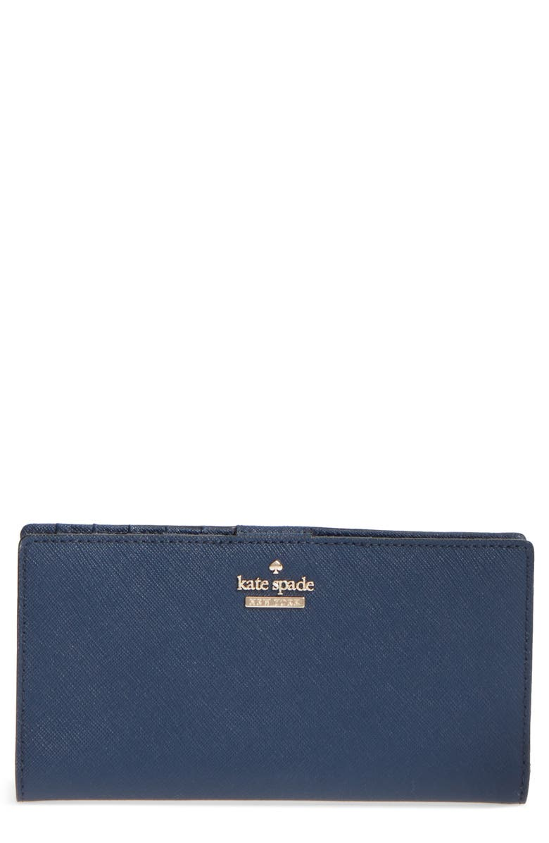 KATE SPADE NEW YORK 'cameron street - stacy' textured leather wallet, Main, color, 255