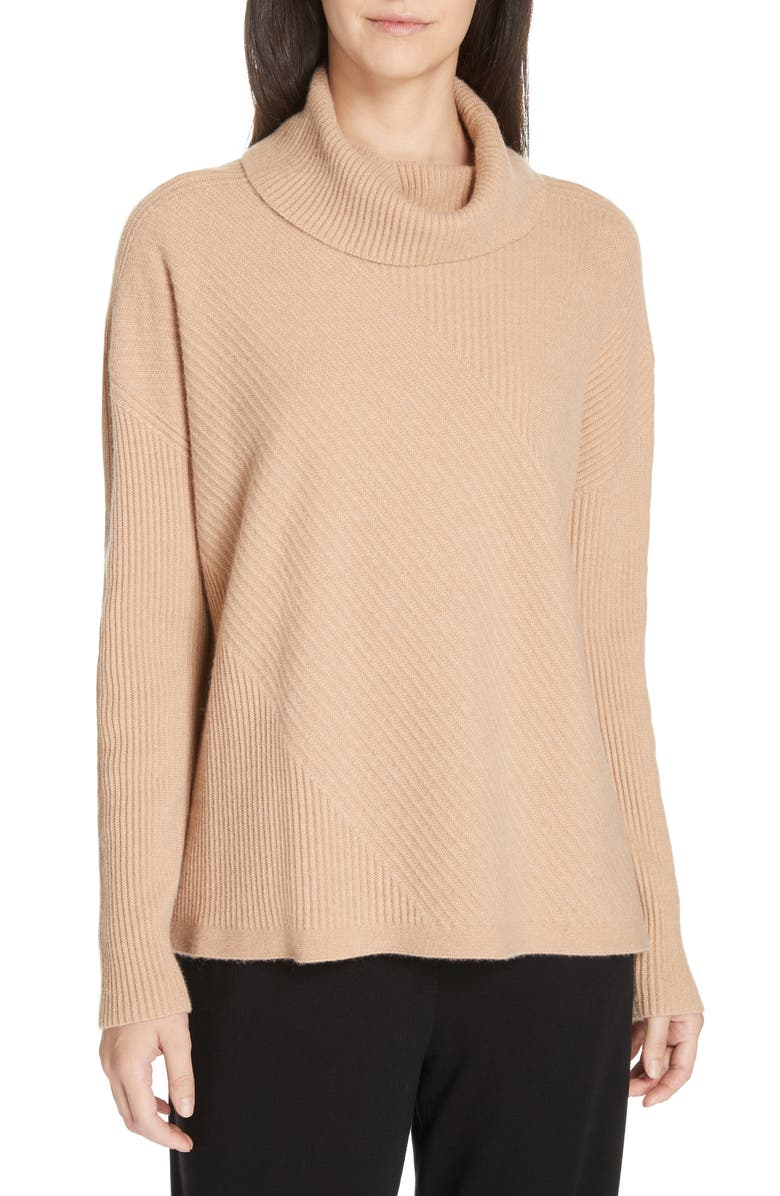 EILEEN FISHER Cashmere Turtleneck Top, Main, color, 221