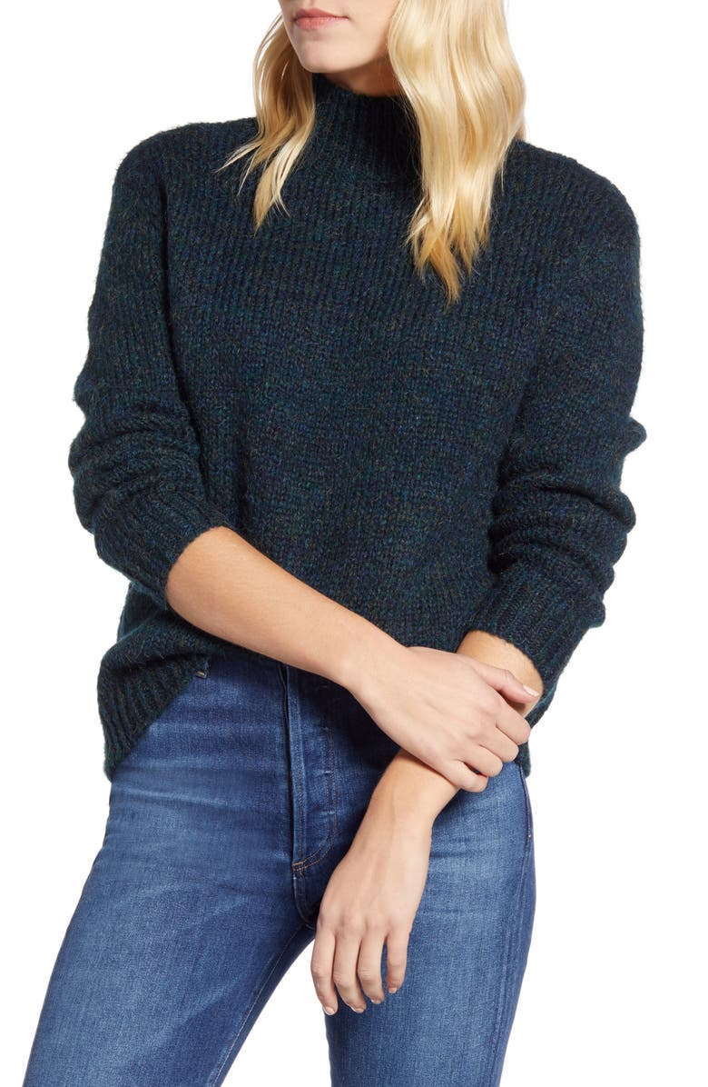 RD STYLE Marled Mock Neck Sweater, Main, color, 300