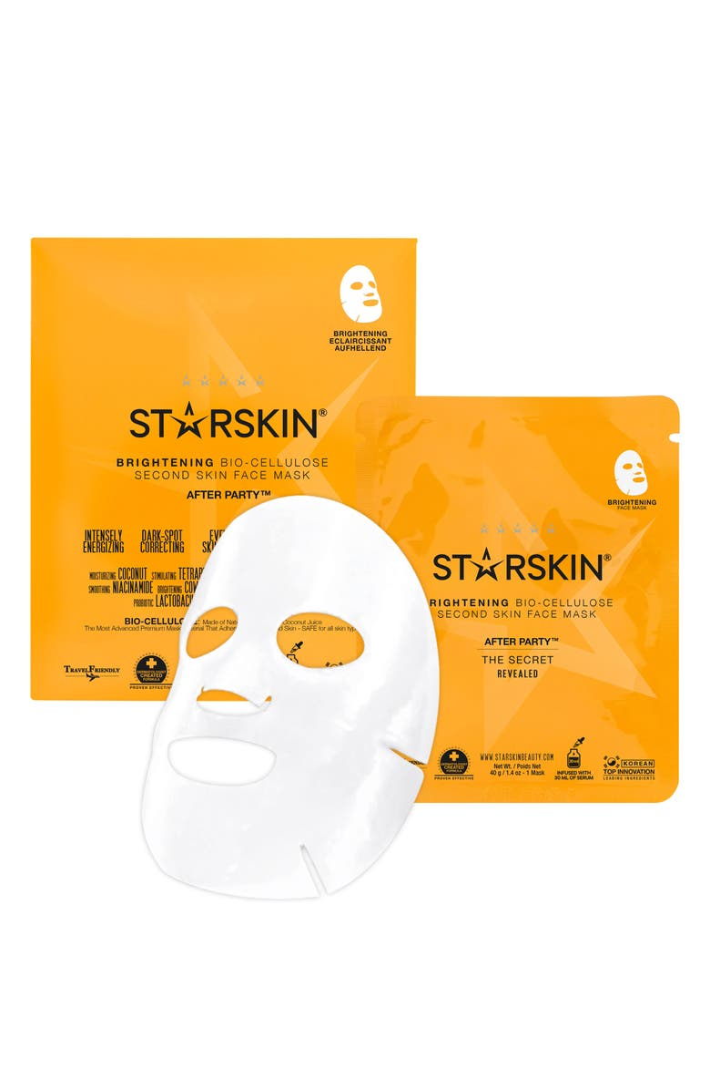 STARSKIN <sup>®</sup> After Party Bio-Cellulose Brightening Face Mask, Main, color, NO COLOR
