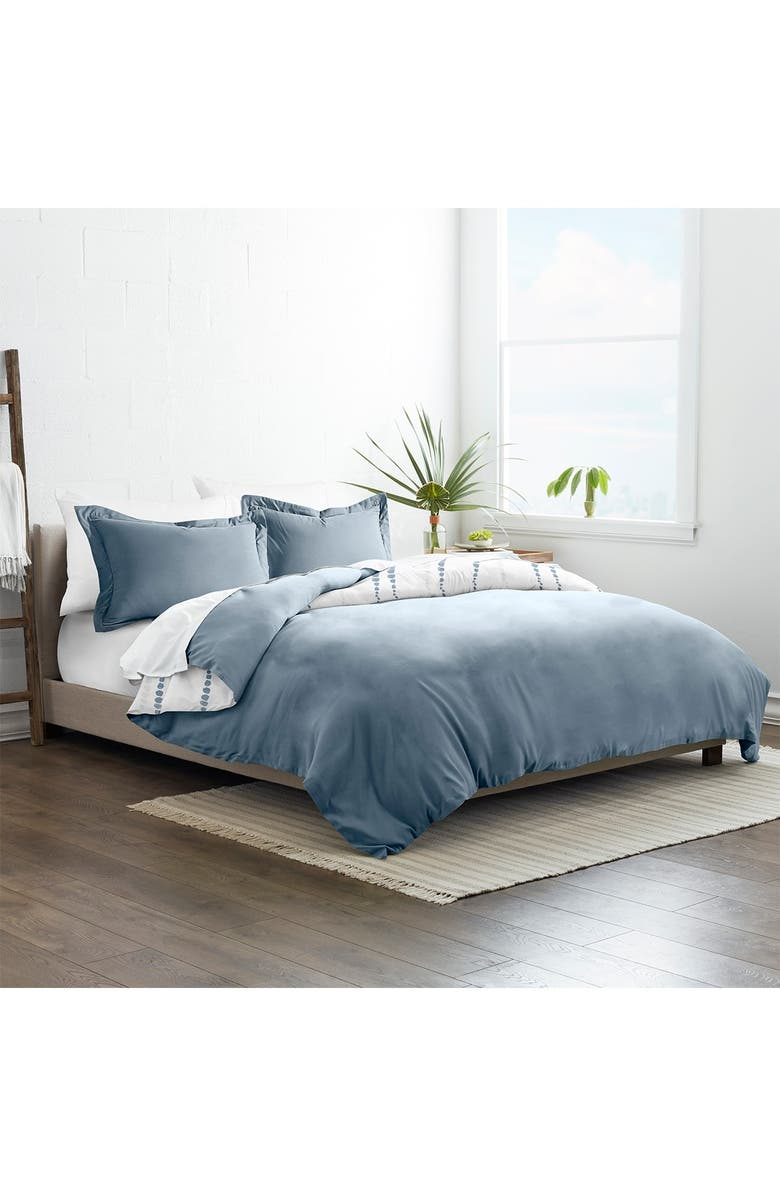 IENJOY HOME Home Collection Premium Ultra Soft Urban Vibe Pattern 3-Piece Reversible Duvet Cover Set - Navy, Main, color, NAVY