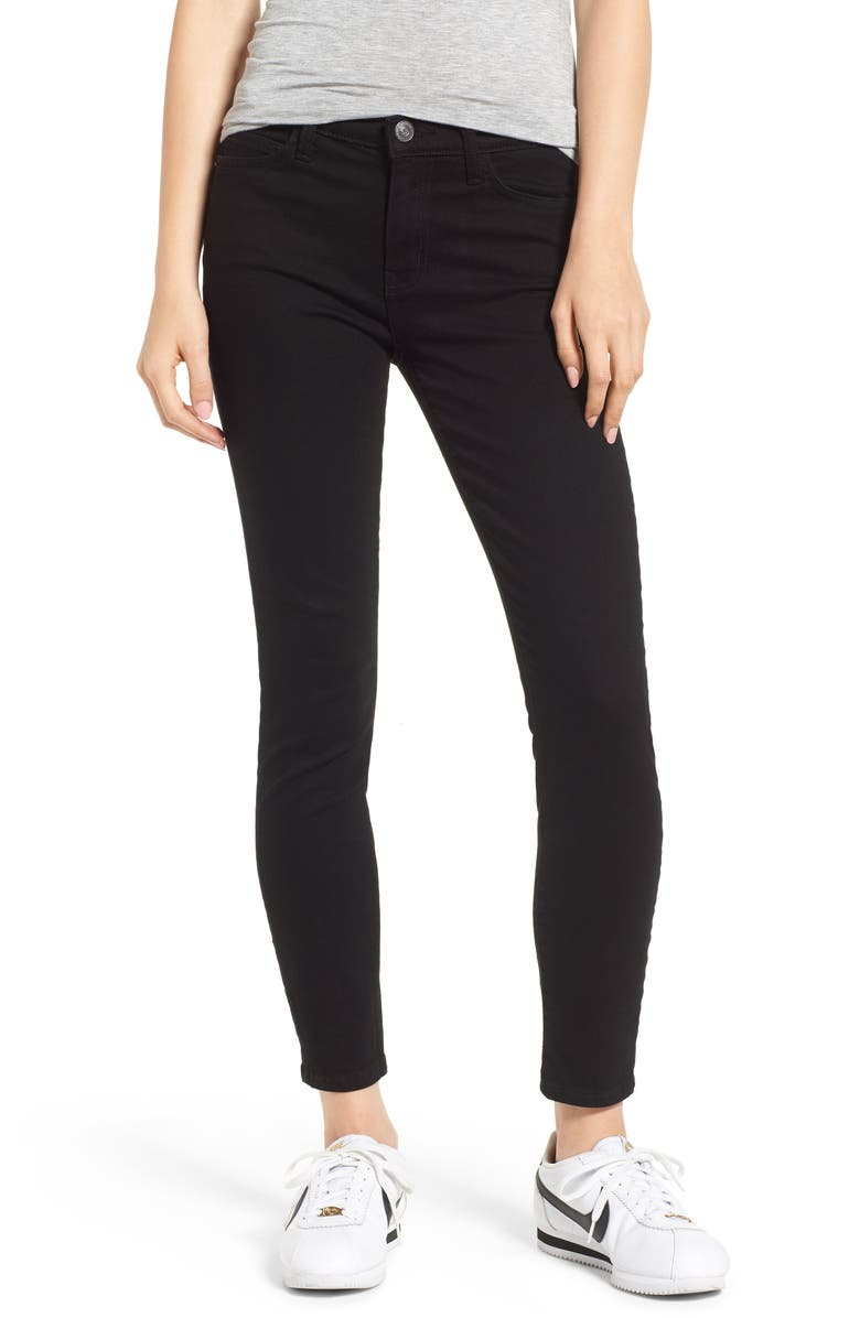 CURRENT/ELLIOTT The Stiletto Ankle Skinny Jeans, Main, color, 001