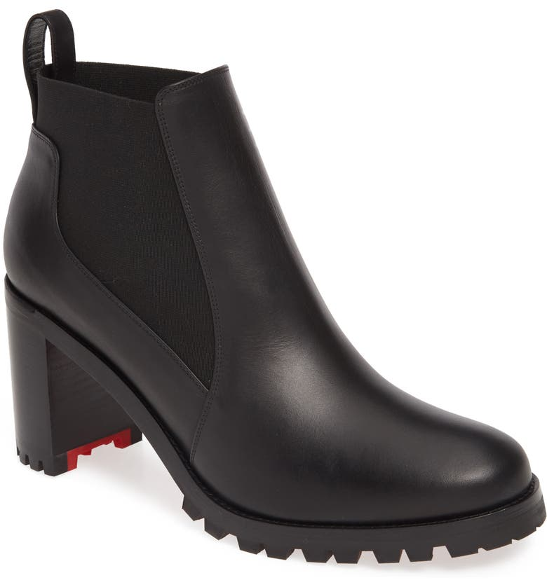 CHRISTIAN LOUBOUTIN Marchacroche Chelsea Bootie, Main, color, Black