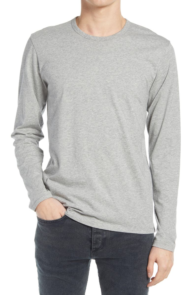 RAG & BONE Principle Base Crewneck Pullover, Main, color, HEATHER GREY