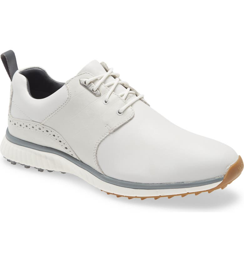 JOHNSTON & MURPHY XC4<sup>®</sup> H2 Luxe Hybrid Waterproof Golf Saddle Sneaker, Main, color, WHITE CROC