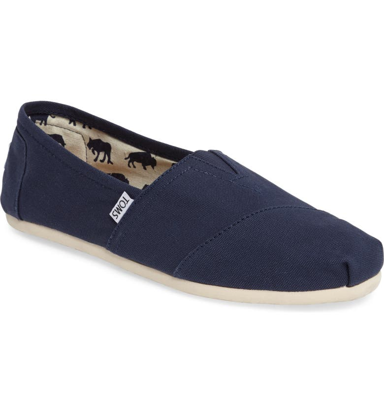 TOMS Classic Canvas Slip-On, Main, color, NAVY