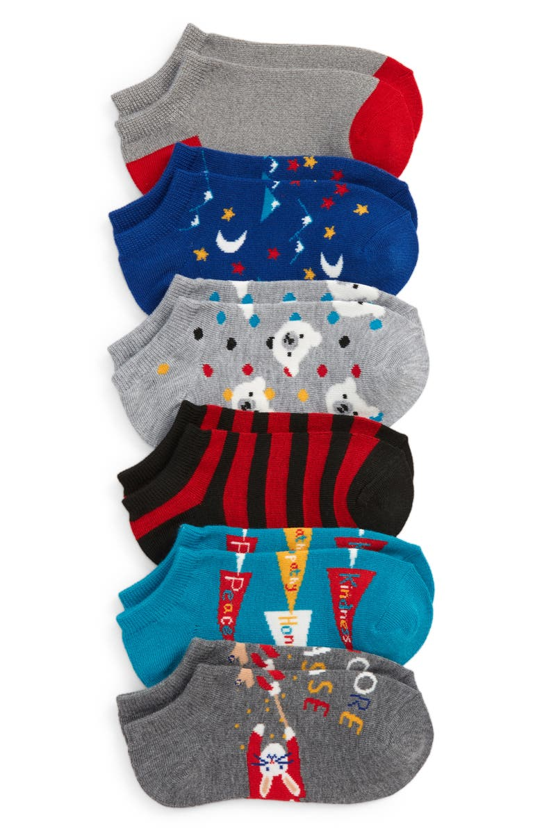 TUCKER + TATE Assorted 6-Pack Lowcut Socks, Main, color, SMORE PLEASE PACK