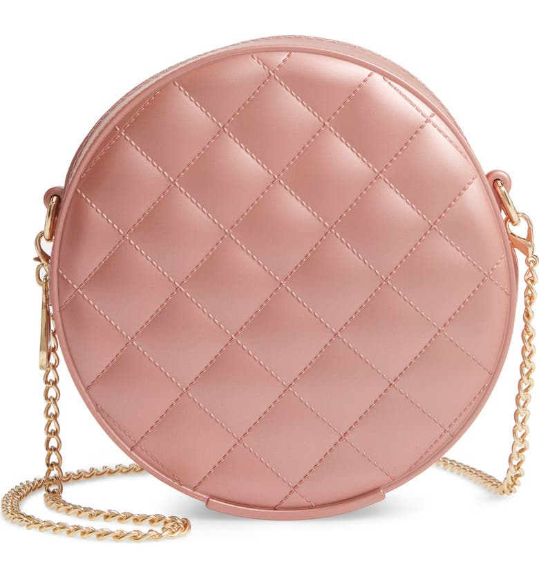 BP. Round Jelly Quilted Crossbody Bag, Main, color, 715