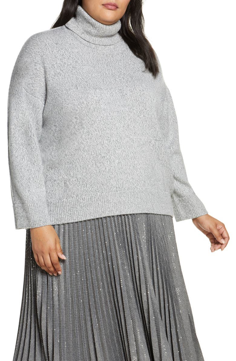 LAFAYETTE 148 NEW YORK Sequin Turtleneck Sweater, Main, color, 020