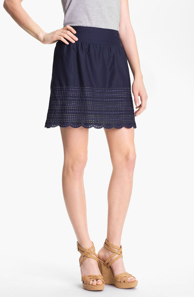 CASLON<SUP>®</SUP> Caslon Eyelet Cotton Skirt, Main, color, 400