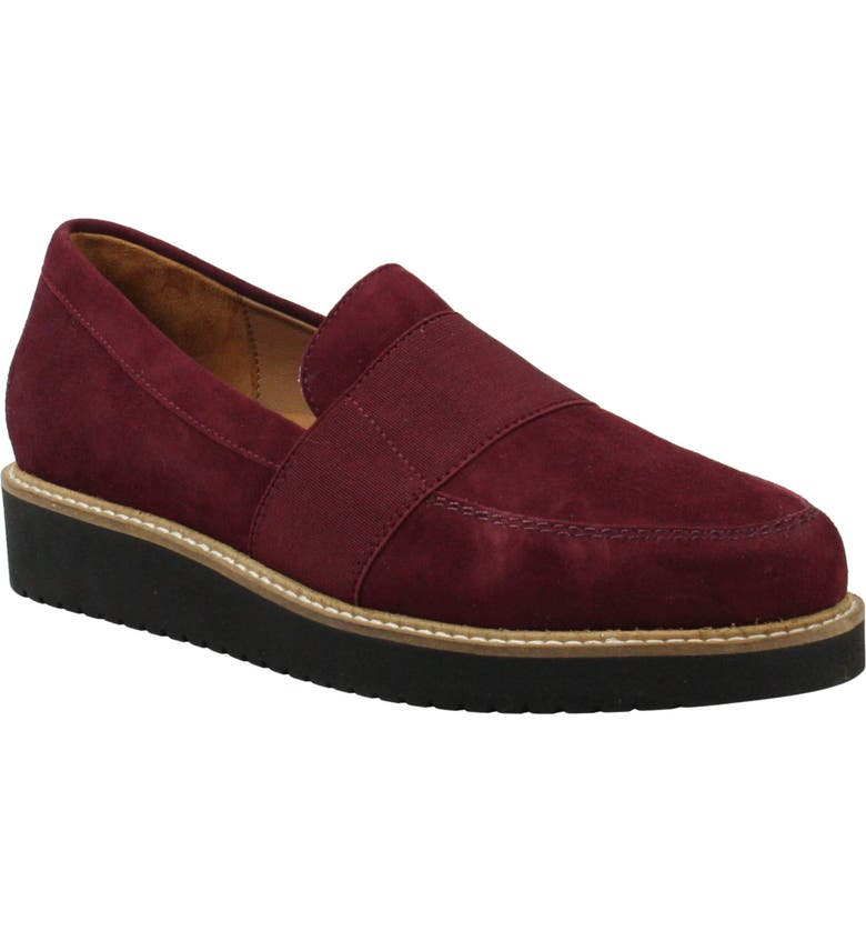 L'AMOUR DES PIEDS Xanthus Loafer, Main, color, MULBERRY SUEDE
