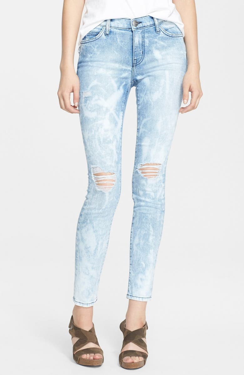 CURRENT/ELLIOTT 'The Stiletto' Destroyed Skinny Jeans, Main, color, 453