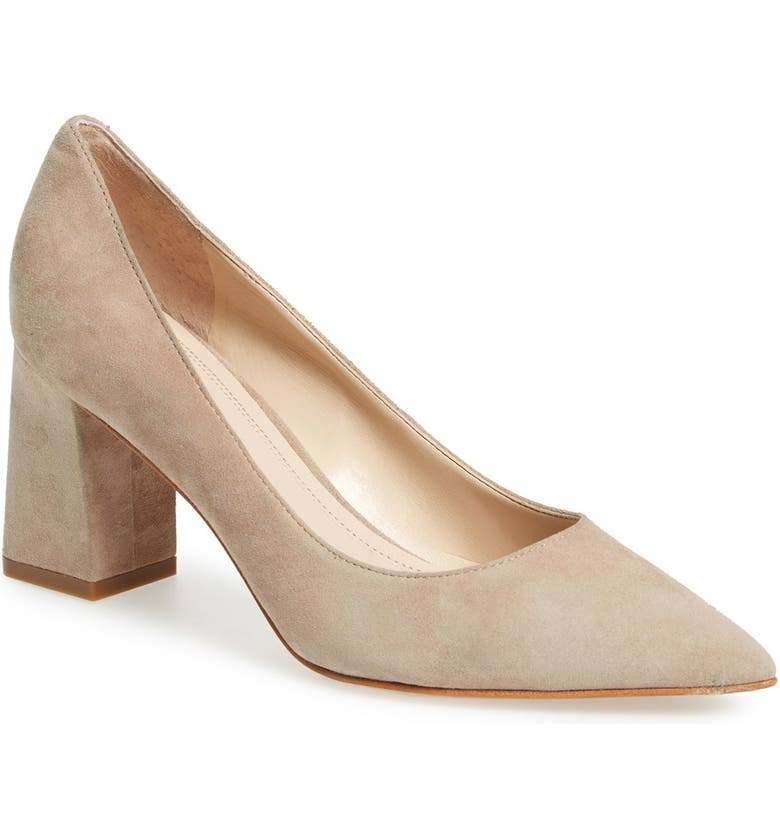 MARC FISHER LTD Zala Block Heel Pump, Main, color, TAN SUEDE