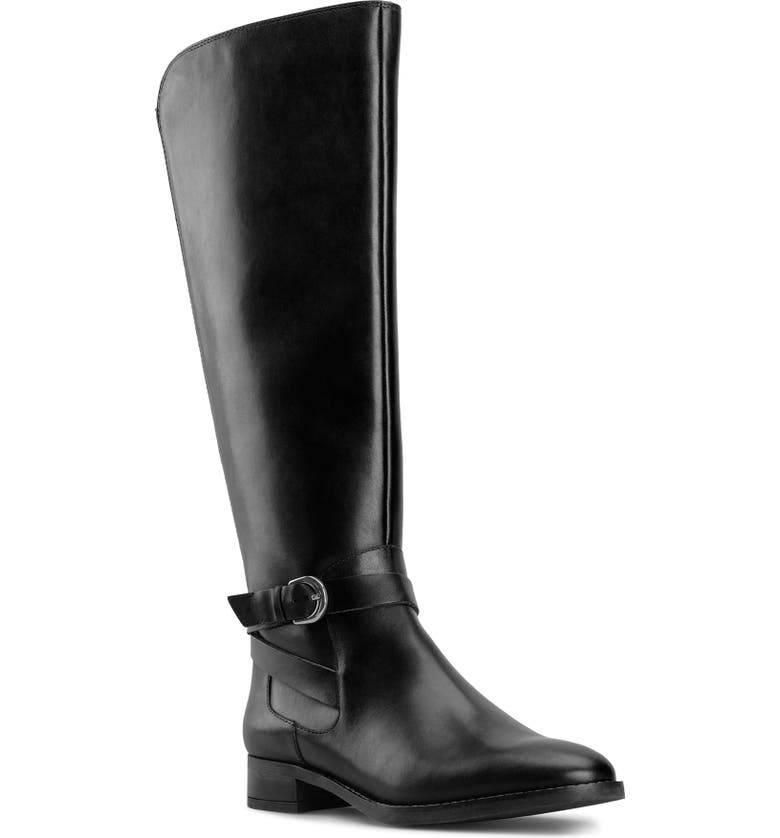 CLARKS<SUP>®</SUP> Hamble Riding Boot, Main, color, BLACK LEATHER