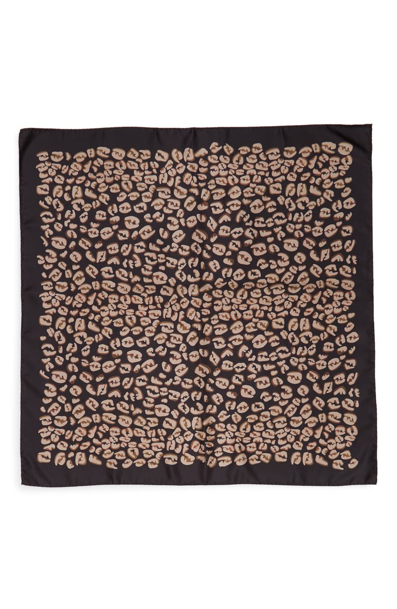 FENDI FF Splash Silk Scarf, Main, color, 001