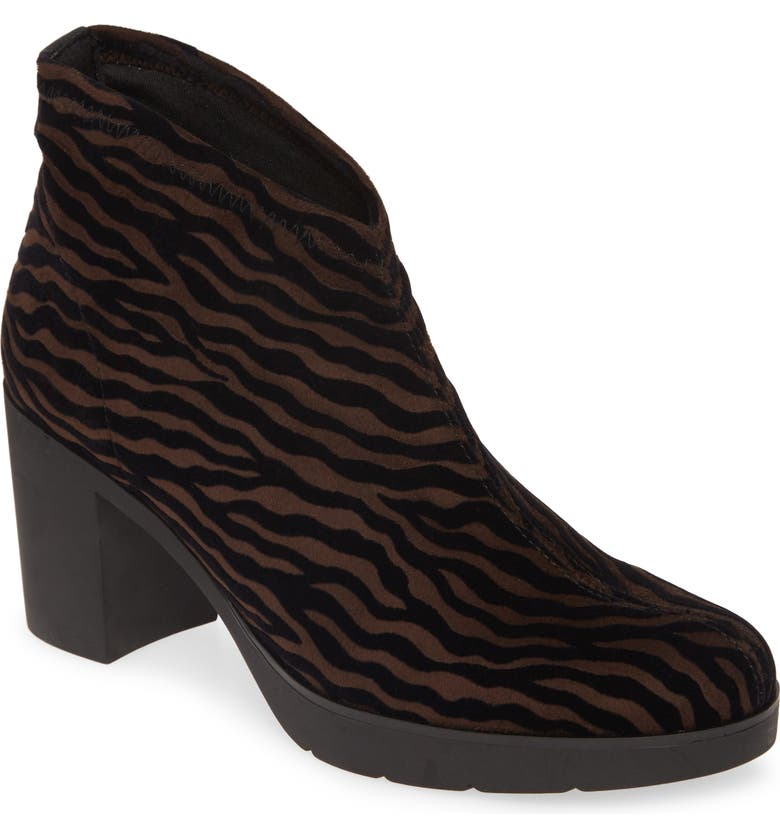 TONI PONS Finley Pull-On Bootie, Main, color, BROWN ZEBRA FABRIC