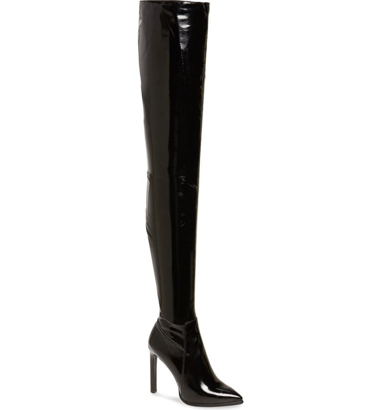 JEFFREY CAMPBELL 'Sherise' Over the Knee Boot, Main, color, BLACK PATENT