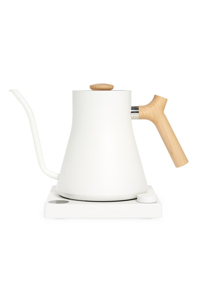 FELLOW Stagg EKG Electric Kettle, Main, color, MATTE WHITE WITH MAPLE ACCENTS