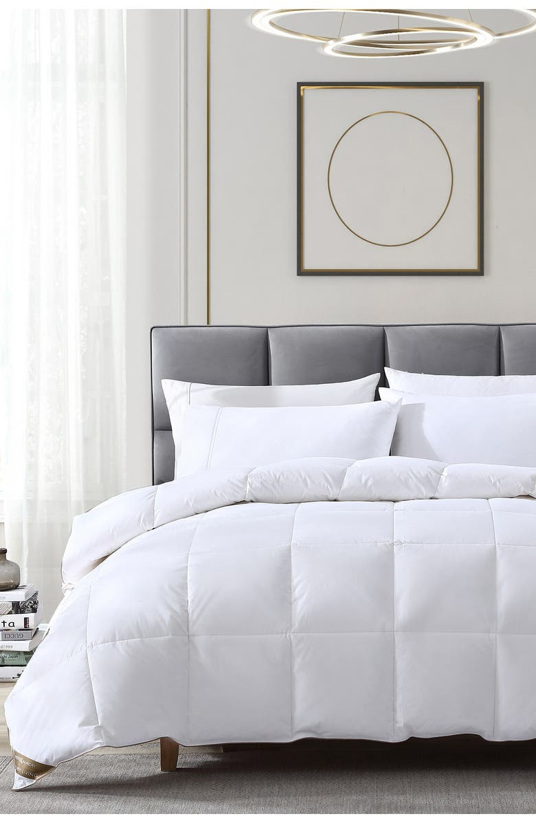 RIO HOME Hotel Laundry Down & Feather Comforter - Twin - White, Main, color, WHITE