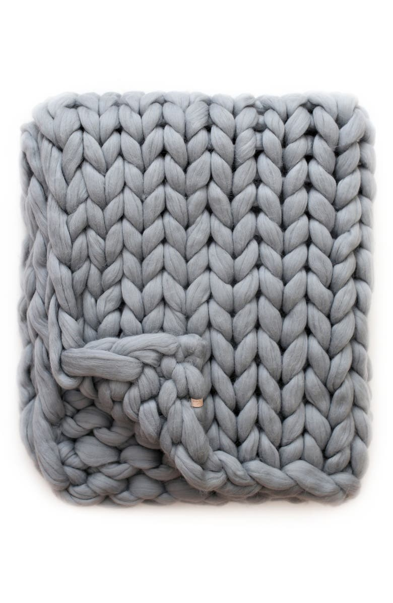 LANE AND MAE Merino Wool Throw Blanket, Main, color, 020