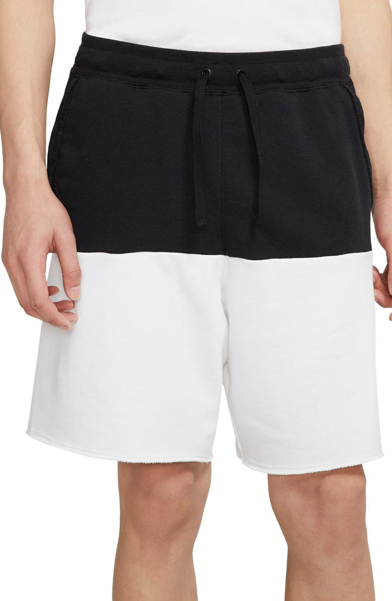NIKE Sportswear Alumni Shorts, Main, color, BLACK/ WHITE/ BLACK