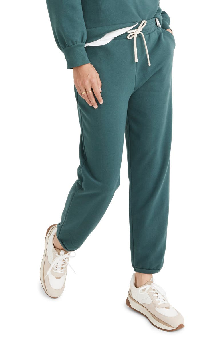 MADEWELL Classic Sweatpants, Main, color, SHADED EVERGREEN