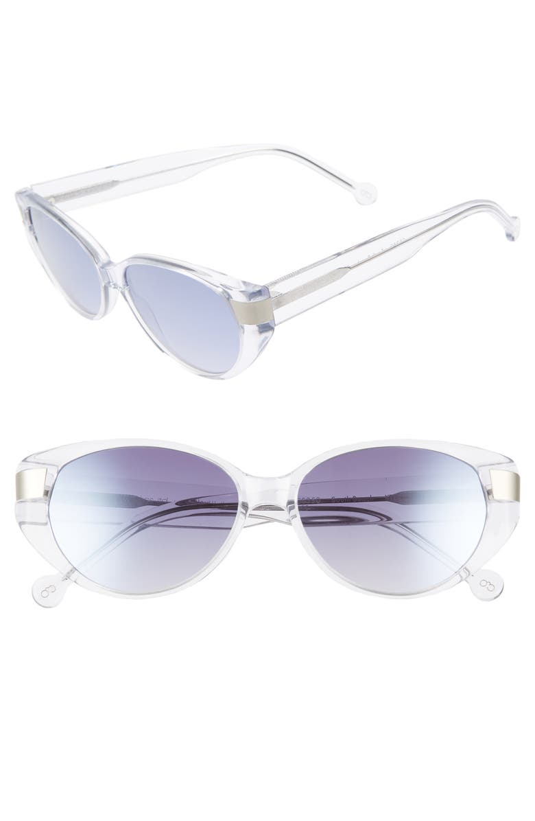 COLORS IN OPTICS Southbeach 54mm Gradient Cat Eye Sunglasses, Main, color, 100