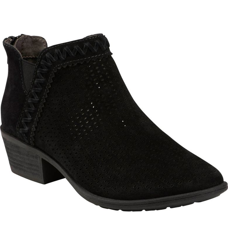 EARTH<SUP>®</SUP> Peak Perry Bootie, Main, color, BLACK SUEDE