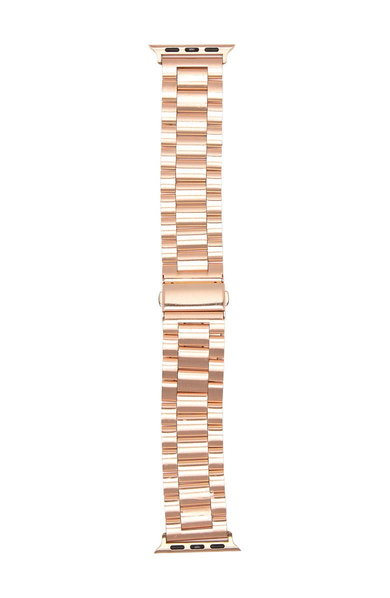 SARINA Women's Interchangeable Metal Link Watch Strap, 180mm x 32mm, Main, color, ROSE GOLD