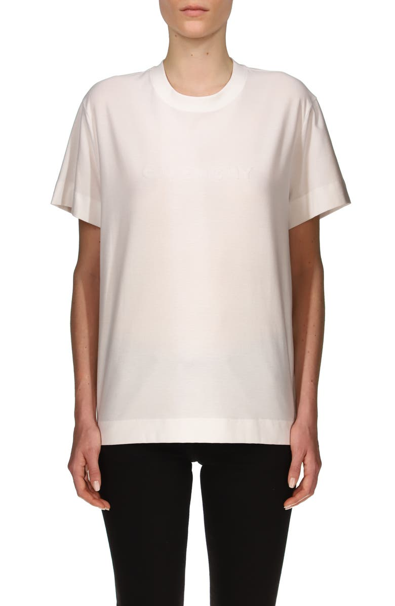 GIVENCHY Classic Fit Logo T-Shirt, Main, color, OPTIC WHITE