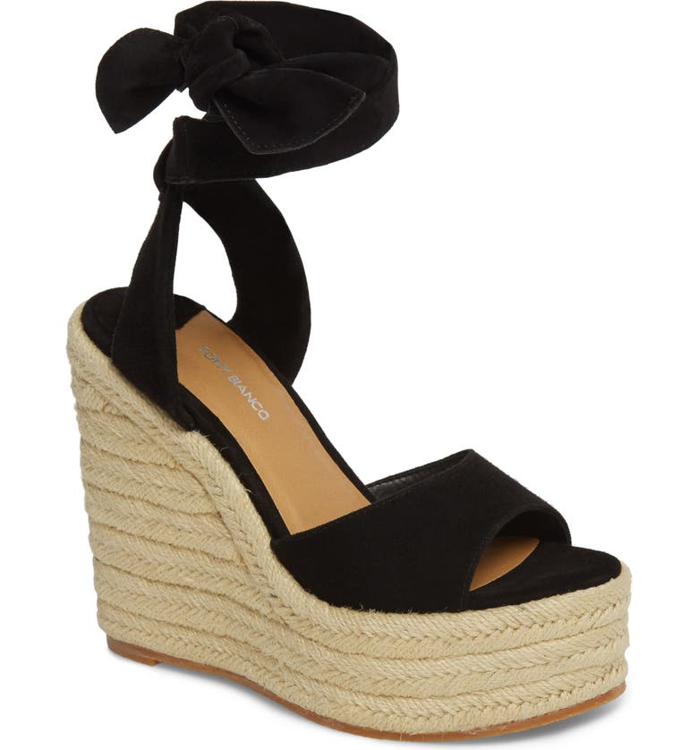 TONY BIANCO Barca Espadrille Wedge Sandal, Main, color, 001