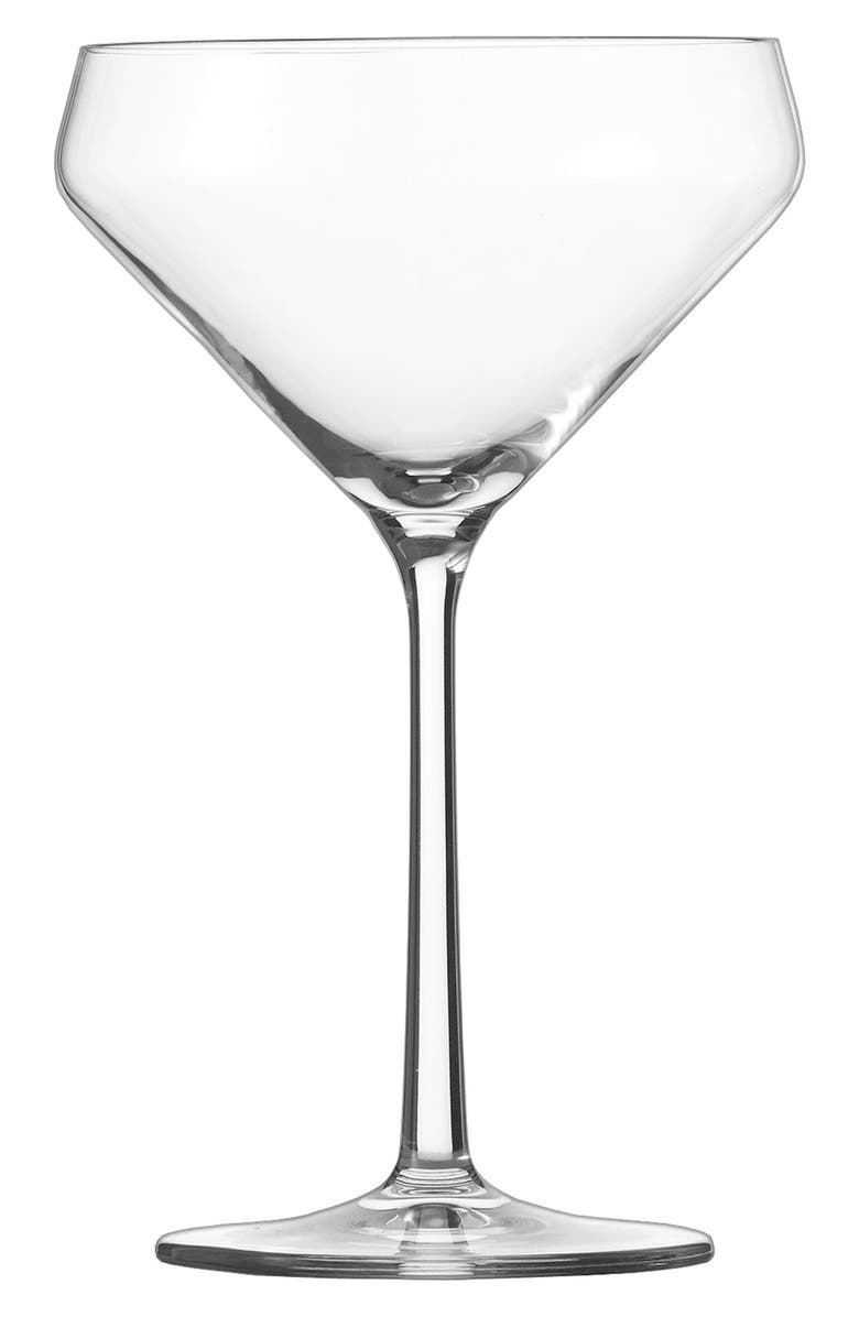SCHOTT ZWIESEL Pure Set of 6 Martini Glasses, Main, color, CLEAR