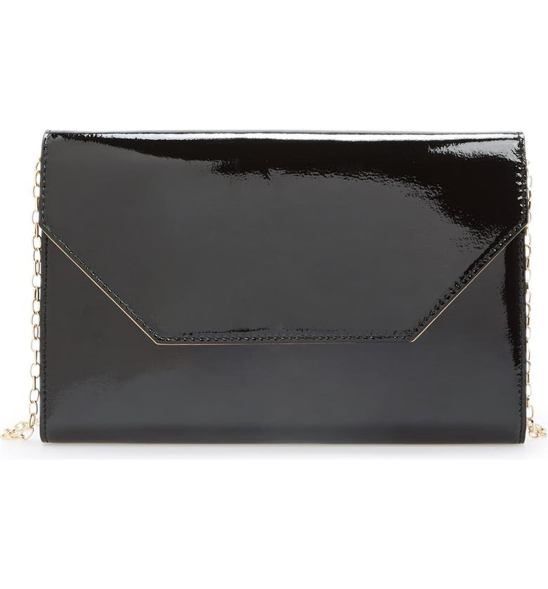 HALOGEN<SUP>®</SUP> Patent Leather Clutch, Main, color, 001