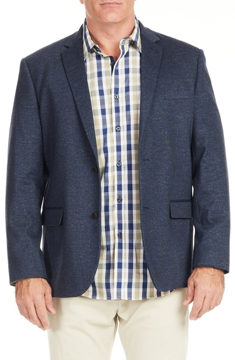 JOHNNY BIGG Iconic 2 Stretch Sport Coat, Main, color, NAVY