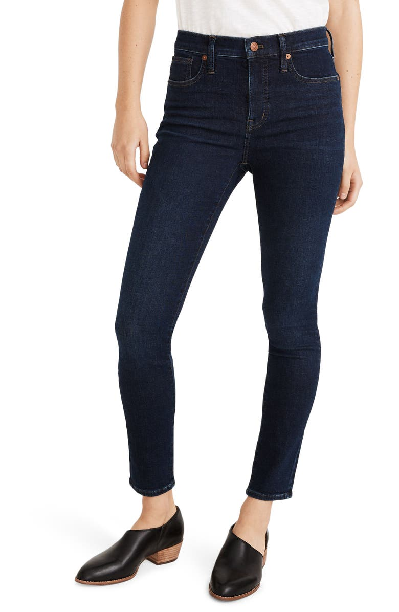 MADEWELL 9-Inch Mid-Rise Skinny Jeans, Main, color, ORLAND WASH
