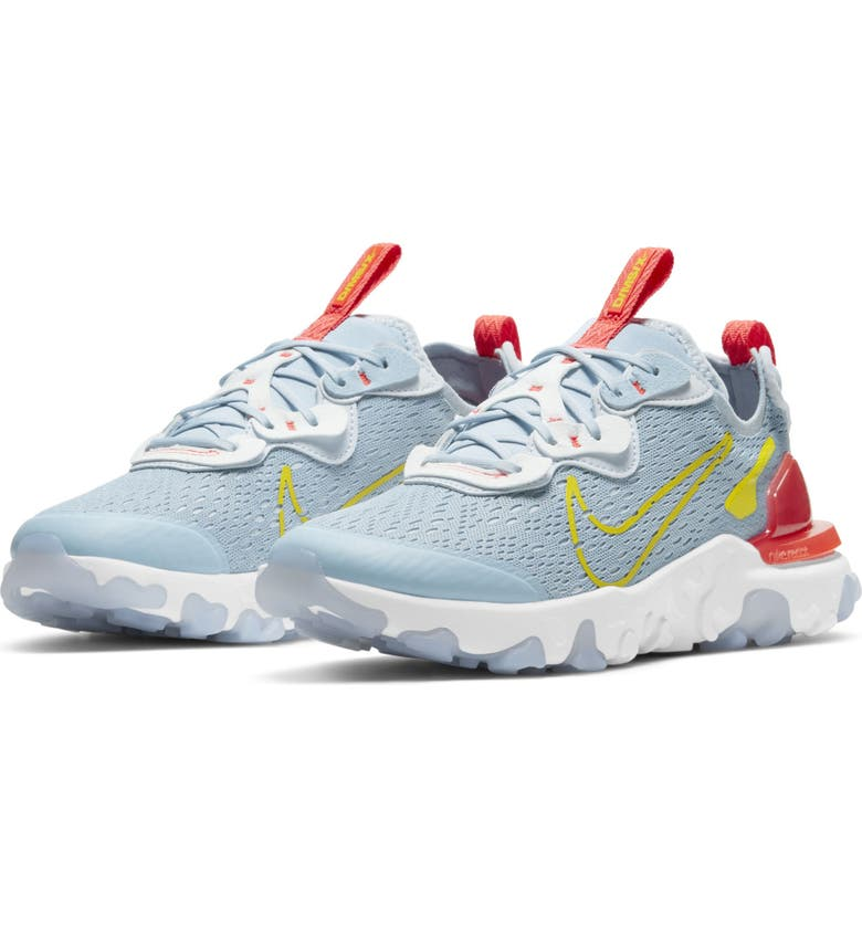 NIKE React Vision Sneaker, Main, color, ARMORY BLUE/ HIGH VOLTAGE