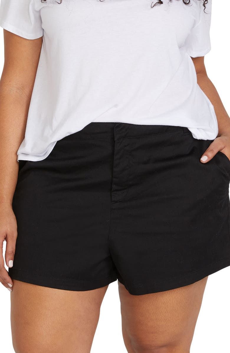 VOLCOM Frochickie Chino Shorts, Main, color, BLACK