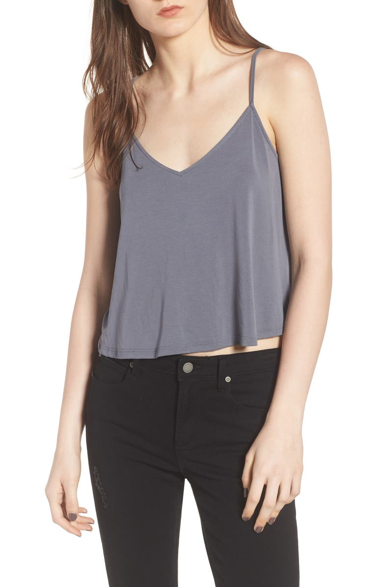 ALL IN FAVOR Swing Camisole, Main, color, GREY