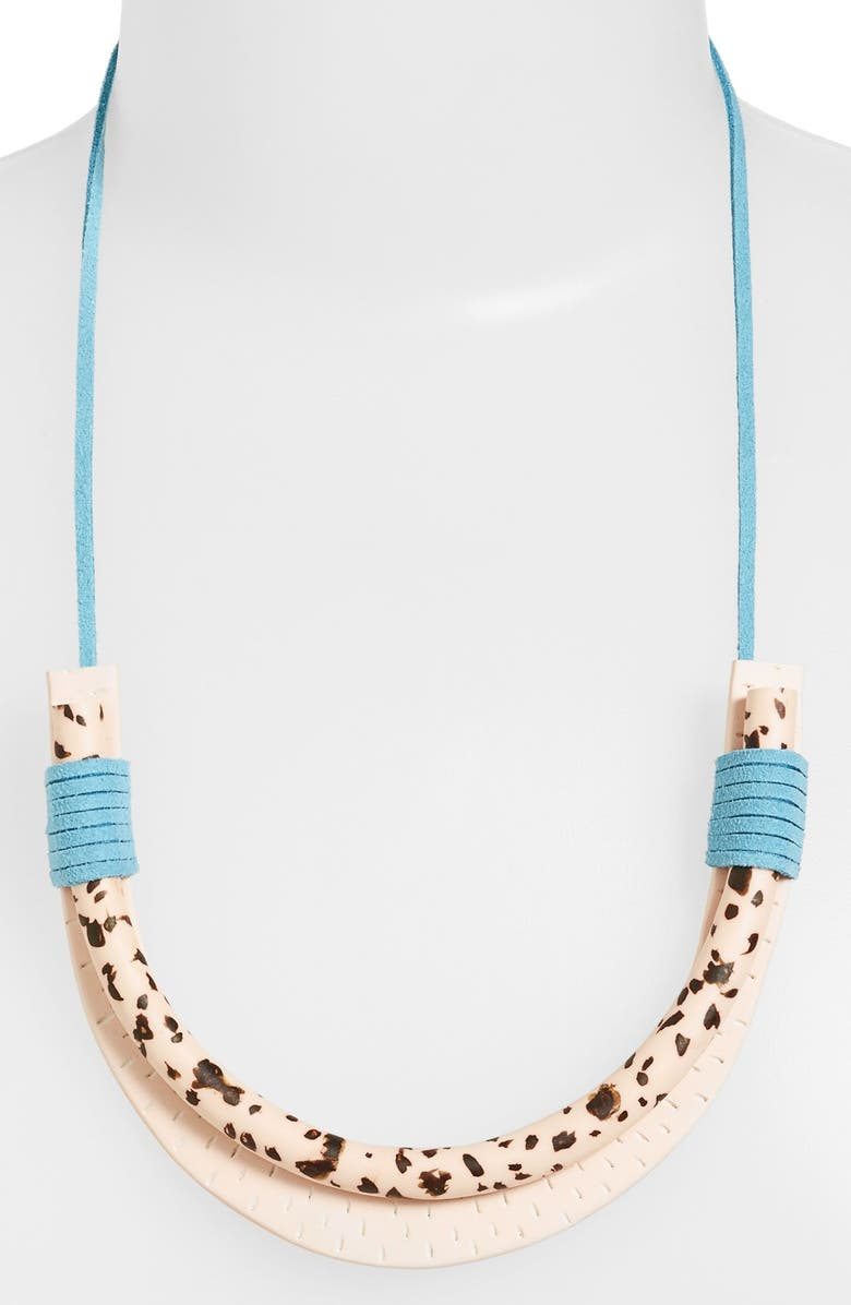 HIGHLOW JEWELRY 'Ardor' Necklace, Main, color, IVORY/ TURQUOISE