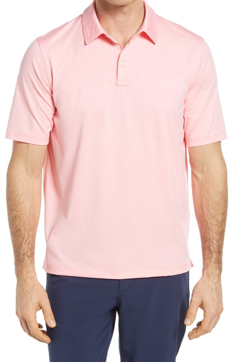 JOHNSTON & MURPHY XC4 Performance Polo, Main, color, CORAL