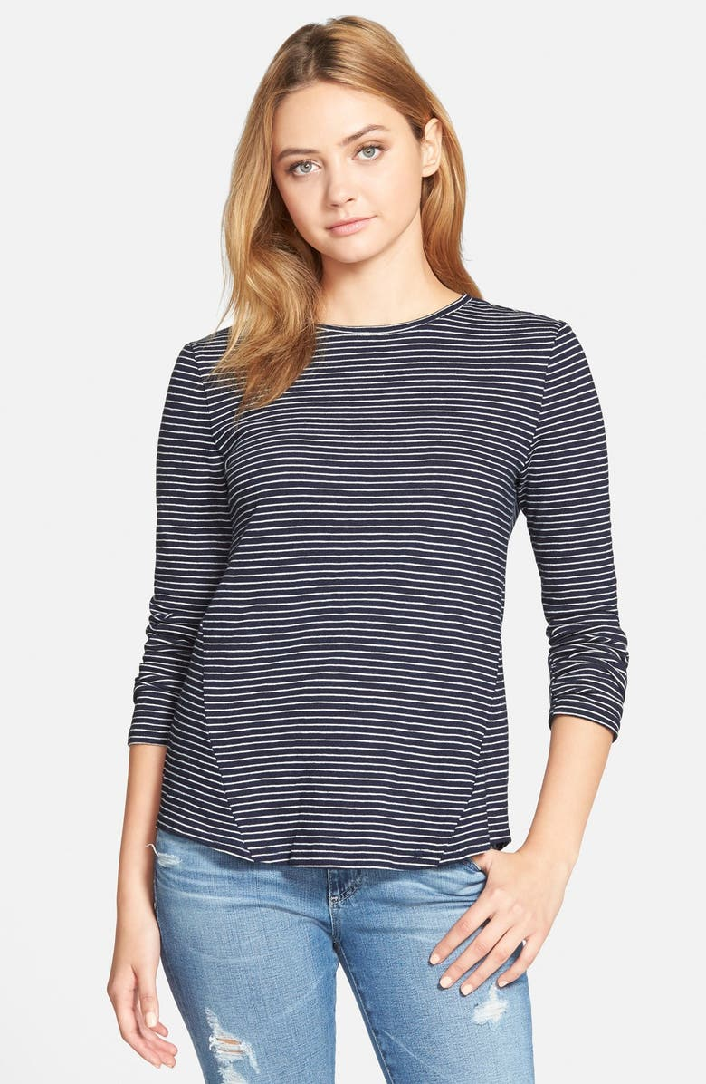 CUPCAKES AND CASHMERE 'Venice' Striped Tee, Main, color, 410
