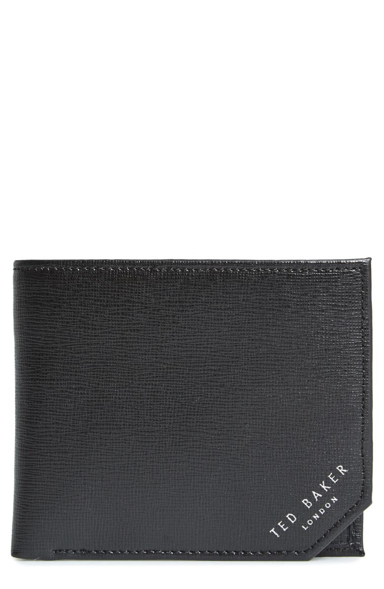 TED BAKER LONDON Stitchup Bifold Wallet, Main, color, 001