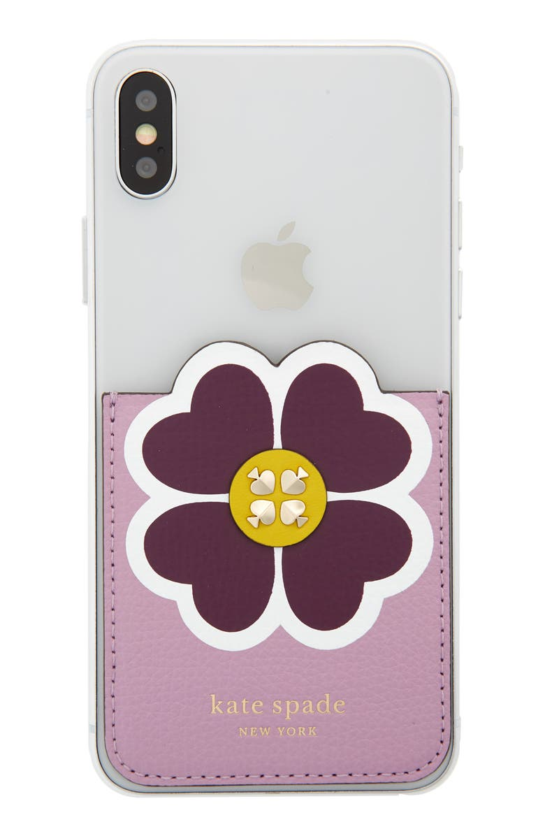 KATE SPADE NEW YORK floral phone pocket, Main, color, 500
