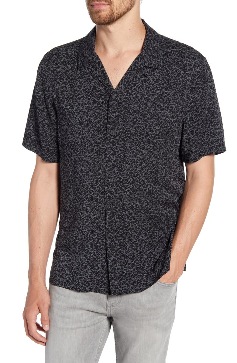 PAIGE Landon Slim Fit Camp Shirt, Main, color, 001