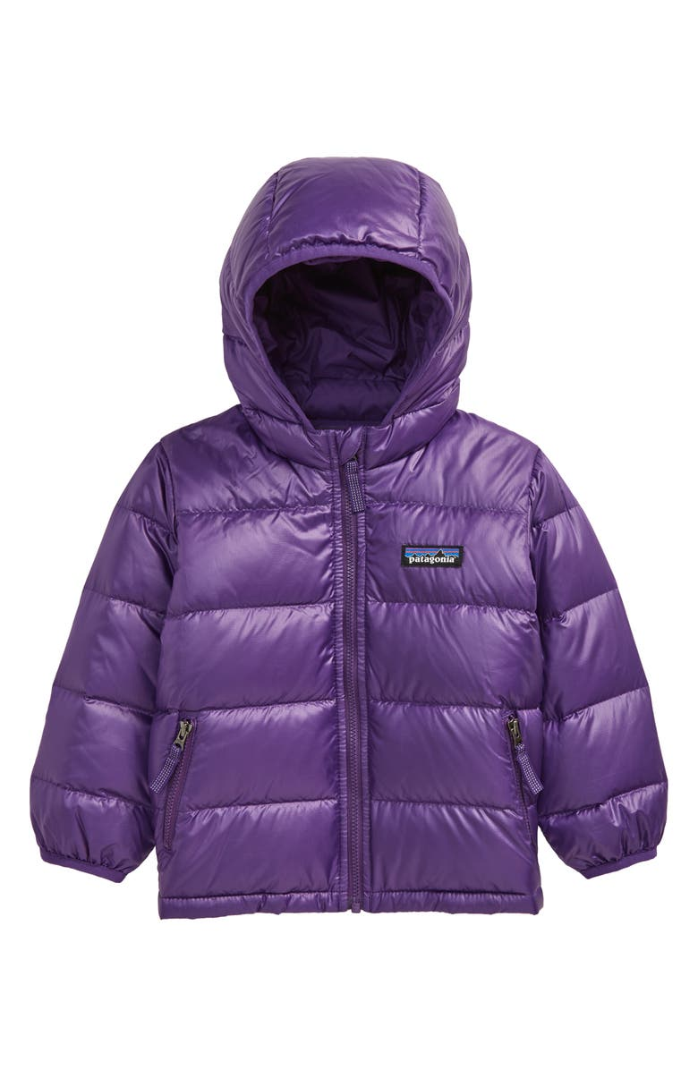 PATAGONIA Hi-Loft Water Repellent 600 Fill Power Down Recycled Sweater Hoodie, Main, color, PURPLE