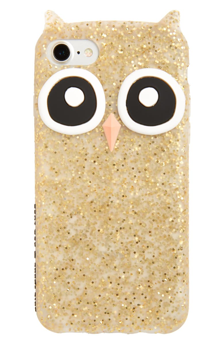 KATE SPADE NEW YORK owl iPhone 7/8 case, Main, color, 711