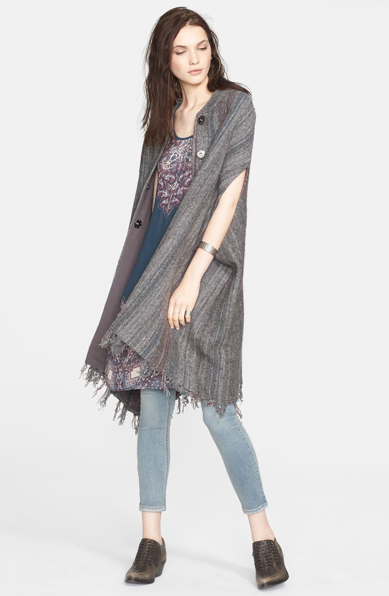 FREE PEOPLE Blanket Sweater Coat, Main, color, CHARCOAL COMBO
